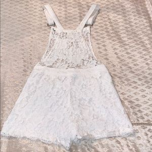 Signature8 Pants & Jumpsuits - Signature8 White Lace Overalls